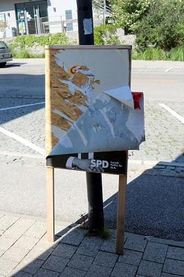 Gauting BTW 2021-09-04 SPD-Plakat_Scholz Bahnhofplatz VR 10