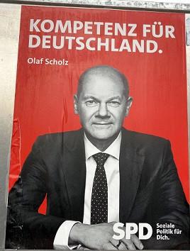 Gauting BTW 2021-09-15 SPD-Plakat Sto abgerissen 2 74