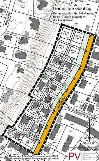 Gauting Bebauungsplan 192 2020-10-13 Hangstraße Plan Ausschnitt.jpg